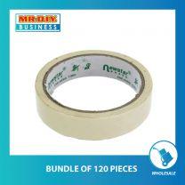 NEWSTAR White Masking Tape (24mm x 15y) (bundle of 120 pack)