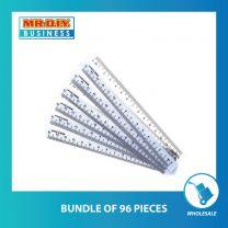 NIEKI Transparent Plastic Ruler 15cm (6 pcs)