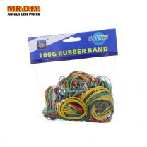 SAN XIN Multi Coloured Rubber Bands ( 100g)