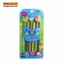 MR.DIY Multi-Design Pencil with Cartoon Eraser (6pcs)