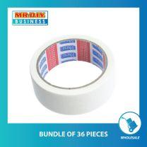 HU-LI White Masking Tape (18mm) (bundle of 36 pack)