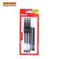 BLOMA Black Gel Ink Pen 0.5mm (3+3 pcs)