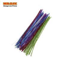 Glitter Chenille Stems 30cm (50 pcs)
