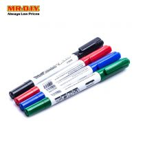 XINLU Multi-Colour Dual Tip CD DVD Permanent Marker (4pcs)