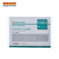 CHANYI Transparent Plastic A4 Card Case (31cm x 22.3cm)