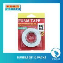 Foam Tape 1.7cm x 2m (Bundle of 12 or 48 pack)