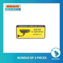 Plastic Signboard With Adhesive (CCTV)