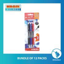 BEIFA Gel Ink Pen 0.5mm (3 pcs)