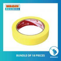 GINNVA Masking Tape Yellow (2.4cm x 30m)
