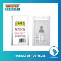 KEJEA Transparent Acrylic ID Card Cover (5.4cm x 8.5cm)