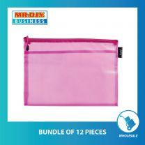 KUODA Translucent Zipper Plastic A4 Document Bag (1pc)