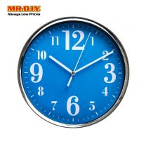 QUARTZ Metal Frame Round Wall Clock (20cm)