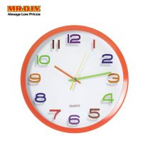 "QUARTZ Face Round Wall Clock 13"""