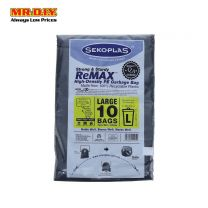 SEKOPLAS ReMAX HDPE Garbage Bag L Size (10pcs)