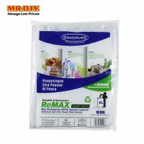 SEKOPLAS ReMAX Semi Transparent HDPE Garbage Bag XL Size (10pcs)