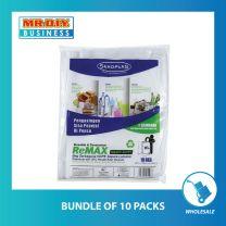 SEKOPLAS ReMAX Semi Transparent HDPE Garbage Bag XL Size (10pcs)