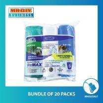 SEKOPLAS ReMAX HDPE Semi-Transparent Garbage Bag S Size (3 x 20pcs)