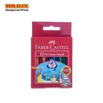 FABER-CASTELL 12 Short Tri Colour Pencils