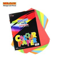 UNI PAPER A4 Highlight Assorted Colour Paper 80gsm S-4200 (100's)