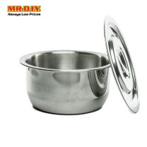 HOMEPLUS Stainless-Steel Indian Pot with Lid (18cm)