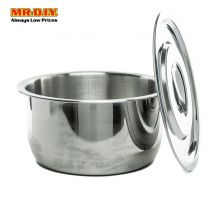 HOMEPLUS Stainless-Steel Indian Pot with Lid (22cm)