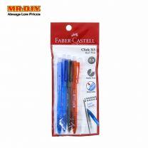 FABER-CASTELL Multi-Colour Click X5 Ball Pen 0.5mm (4pcs)
