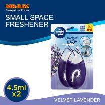 Ambi Pur Mini Fresh Velvet Lavender 2 in 1 Small Space Freshener 2 x 4.5ml Bundle Pack