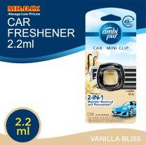 Ambi Pur Car Mini Clip Vanilla Bliss Car Air Freshener 2.2 ml