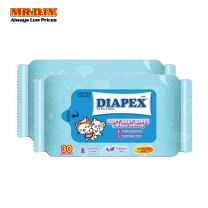 Diapex Soft Baby Wipes  2X30S
