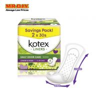 KOTEX Daily Odor Care Longer & Wider Liners (2x 30pcs)