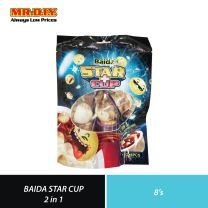 BAIDA Star Cup 2 In 1 Chocolate with Biscuit (8 x 12g)