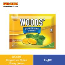 WOODS Peppermint Drops Honey Lemon (15g)