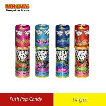 PUSH POP Candy Assorted Fruit Flavours (14g)