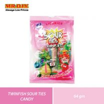 TWINFISH Sour Ties Candy (8 x 64g)