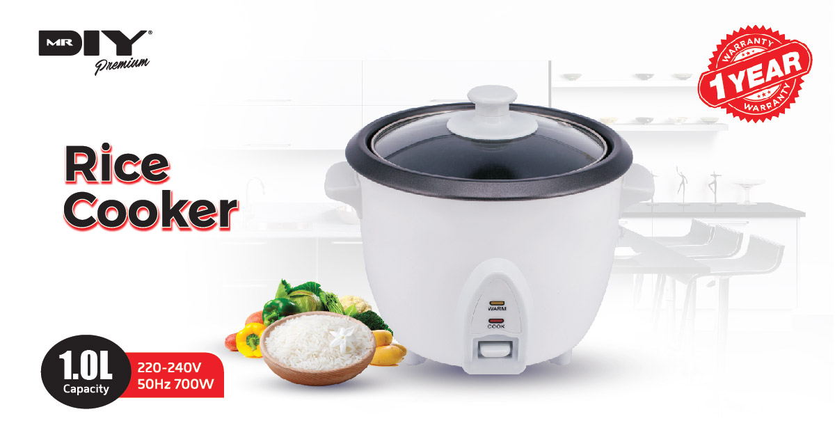 cc237464658 Premium rice cooker. Makes rice cooking easy and hassle-free. Cook and  automatic keep warm function. Cool touch and easy carry handle.